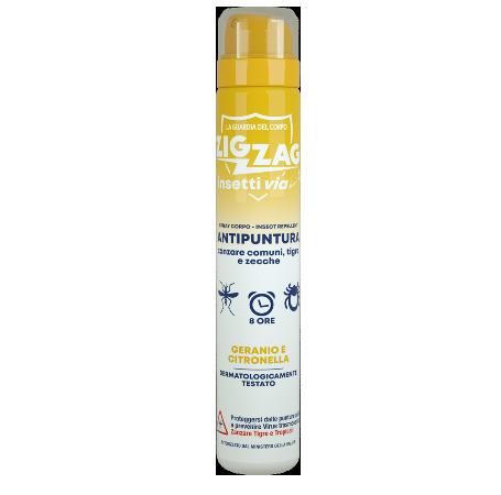 Zig Zag Insettivia! Perfumed Repellent Body Spray - Geranium and java Citronella