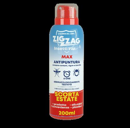 Zig Zag Insettivia! Repellente Antipuntura Spray Max Scorta Estate 200ml