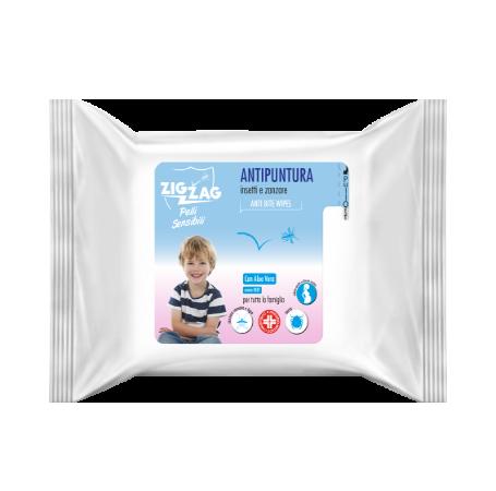 Zig Zag Repellente Salviette Antipuntura Pelli Sensibili