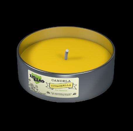 Zig Zag Candela Antizanzare per esterni all'olio essenziale di Citronella Giava in lattina.
