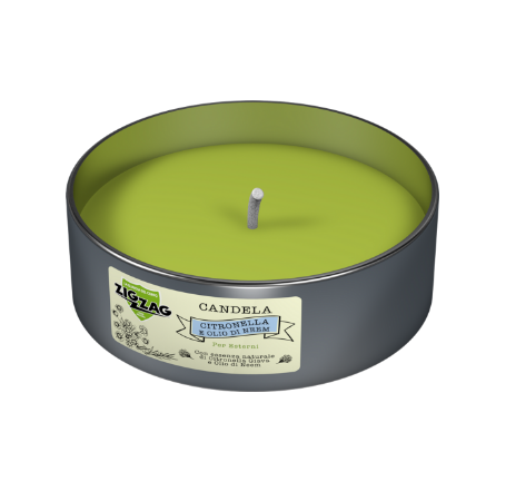 Zig Zag Candle Anti-mosquito for outdoors with essential oil of Java Citronella and Neem Oil