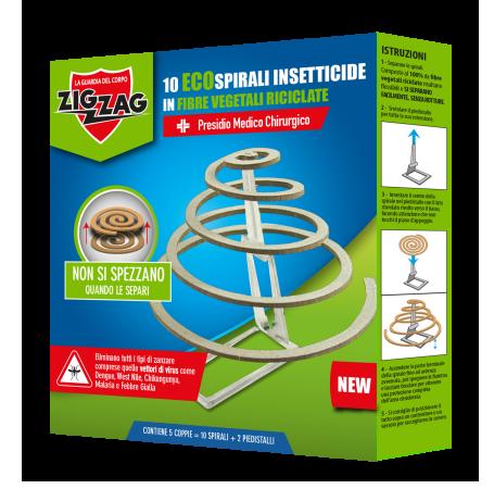 Zig Zag 10 Insectic Spirals Support 100% Vegetable Fibers