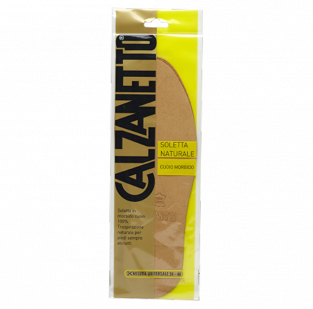 Calzanetto Insole Natural 100 % Genuin Leather