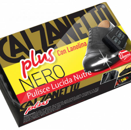 New Calzanetto Plus con Lanolina Nero
