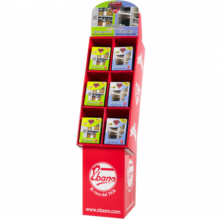 Zig Zag floor cell display unit for assorted Moth Traps