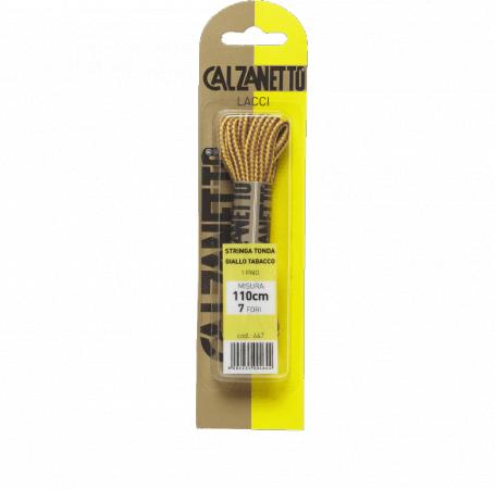 Calzanetto Round lace 110 cm - Tobacco yellow
