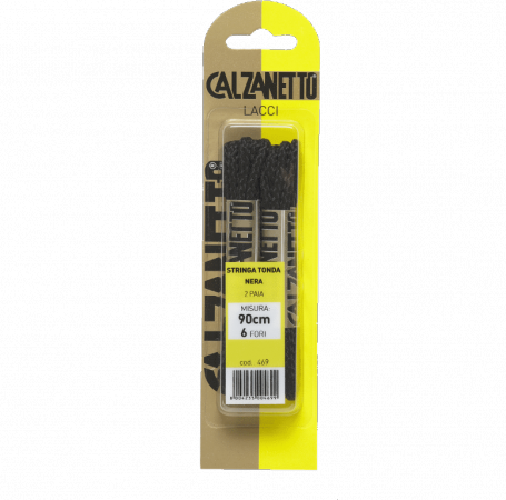 Calzanetto Round lace 90 cm - Black
