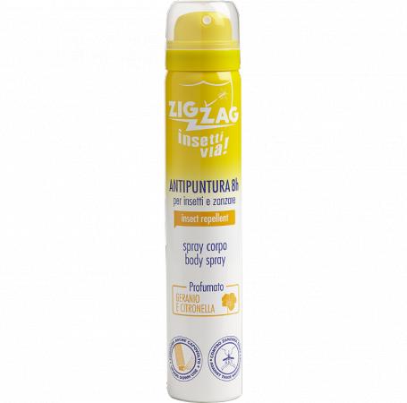 Zig Zag Insettivia! Spray Corpo Repellente Profumato - Geranio e Citronella Giava
