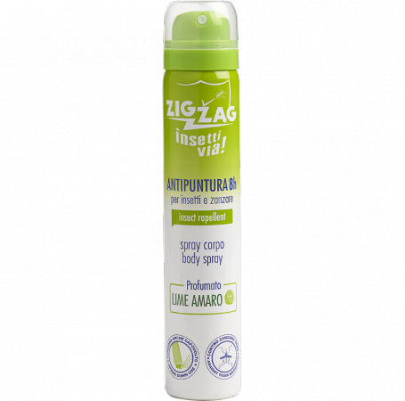 Zig Zag Insettivia! Perfumed Repellent Body Spray - Bitter Lime