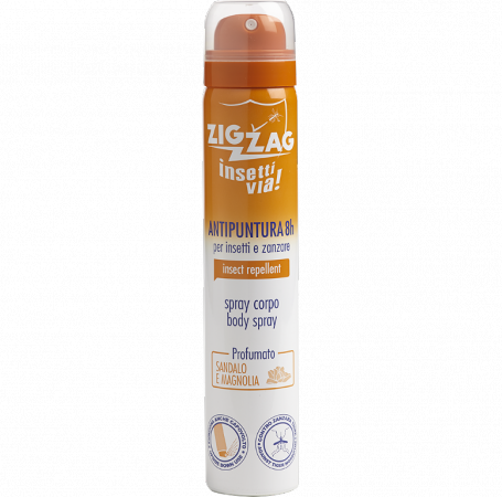 Zig Zag Insettivia! Perfumed Repellent Body Spray - Sandal e Magnolia