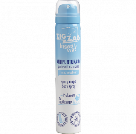 Zig Zag Insettivia! Perfumed Repellent Body Spray - Marseilles Talcum
