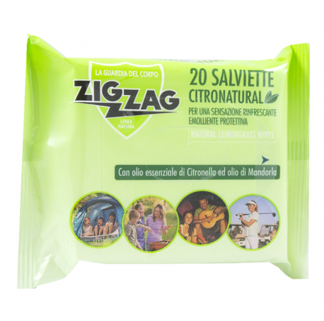 Zig Zag Insettivia! Citronatural Salviette