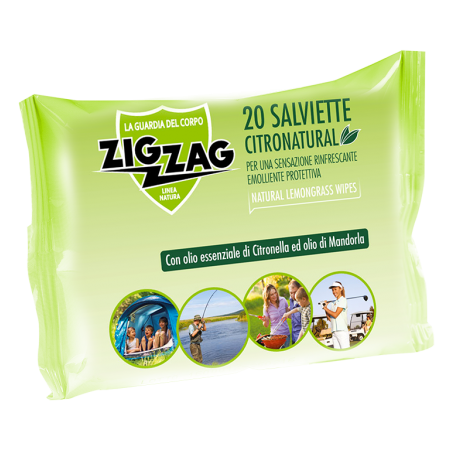 Zig Zag Insettivia! Repellente Citronatural Salviette