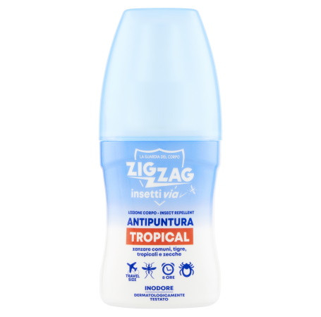 Zig Zag Insettivia! Repellente Tropical Lozione Antipuntura Travel Size