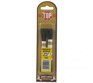 Top round waxed laces 70 cm black